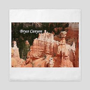 Bryce Canyon, Utah 3 (caption) Queen Duvet