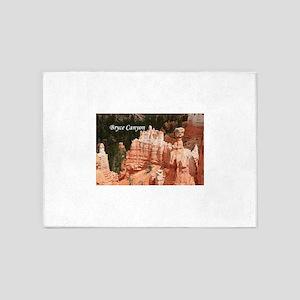 Bryce Canyon, Utah 3 (caption) 5'x7'Area Rug