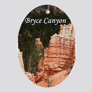 Bryce Canyon, Utah 3 (caption) Ornament (Oval)