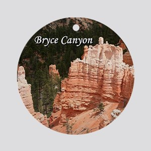 Bryce Canyon, Utah 3 (caption) Ornament (Round)