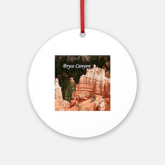 Bryce Canyon, Utah 3 (caption) Ornament (Round)