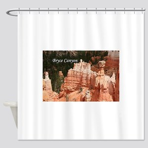 Bryce Canyon, Utah 3 (caption) Shower Curtain