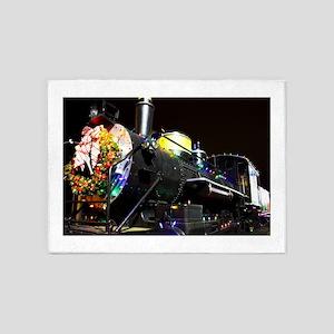 Christmas Train 5'x7'Area Rug