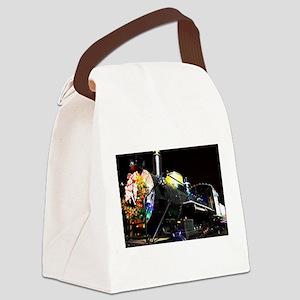 Christmas Train Canvas Lunch Bag