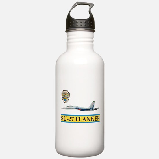 su-27_flanker_russian_ Water Bottle