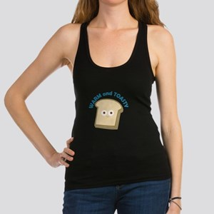 bread warm and toasty Racerback Tank Top