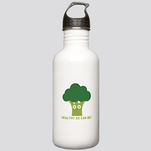broccoli healthy as can be Water Bottle
