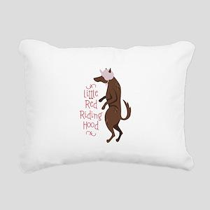 Red Riding Hood Rectangular Canvas Pillow