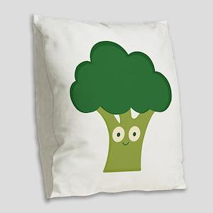 broccoli base Burlap Throw Pillow