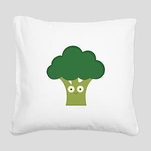 broccoli base Square Canvas Pillow