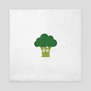 broccoli base Queen Duvet