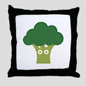broccoli base Throw Pillow