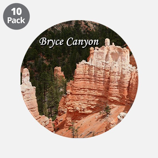 "Bryce Canyon, Utah 3 (captio 3.5"" Button (10 pack)"