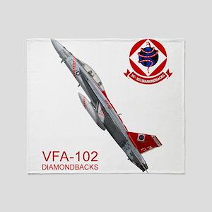 vfA102logo10x10_apparel copy Throw Blanket