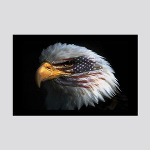 American Flag Eagle Mini Poster Print