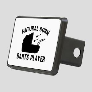 Natural Born Darts Player Rectangular Hitch Cover