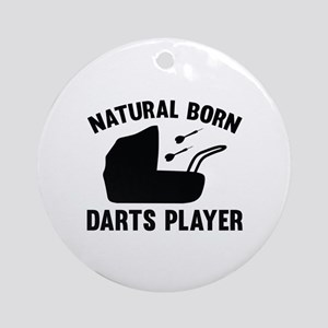Natural Born Darts Player Ornament (Round)