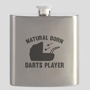 Natural Born Darts Player Flask