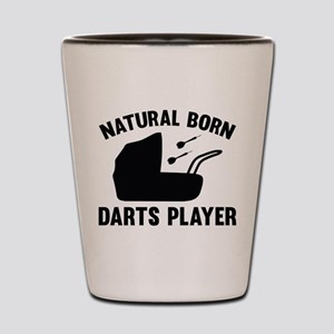 Natural Born Darts Player Shot Glass