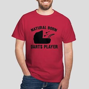 Natural Born Darts Player Dark T-Shirt