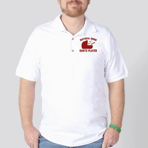 Natural Born Darts Player Golf Shirt