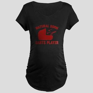 Natural Born Darts Player Maternity Dark T-Shirt