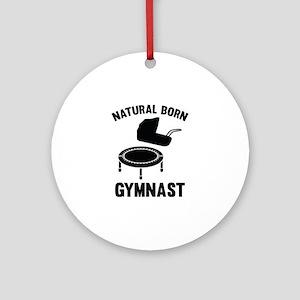 Natural Born Gymnast Ornament (Round)