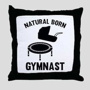 Natural Born Gymnast Throw Pillow