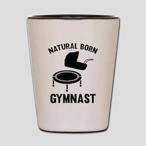 Natural Born Gymnast Shot Glass