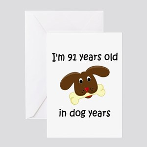 13 dog years 4 - 2 Greeting Cards