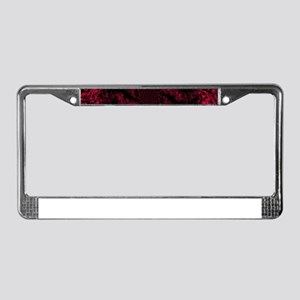 Red Fire Dragonfly License Plate Frame