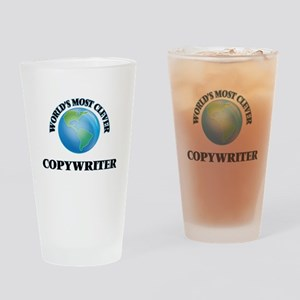 World's Most Clever Copywriter Drinking Glass