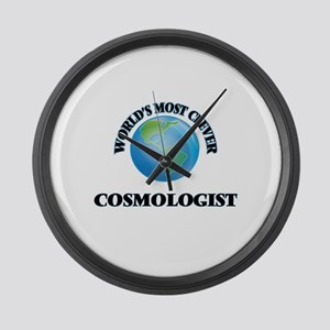 World's Most Clever Cosmologist Large Wall Clock
