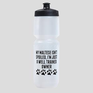 Well Trained Maltese Owner Sports Bottle