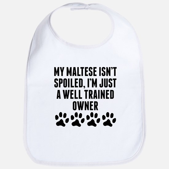 Well Trained Maltese Owner Bib