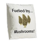 Fueled by Mushrooms Burlap Throw Pillow