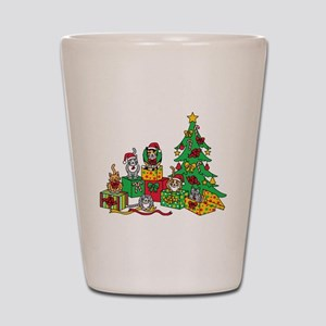 Christmas Cats Shot Glass