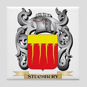 Stuchbury Coat of Arms - Family Crest Tile Coaster
