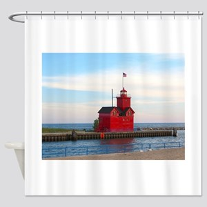Holland Harbor Lighthouse Shower Curtain