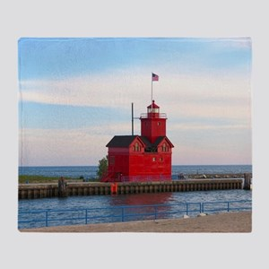 Holland Harbor Lighthouse Throw Blanket