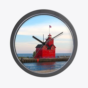 Holland Harbor Lighthouse Wall Clock