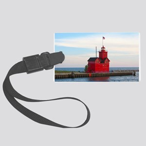 Holland Harbor Lighthouse Large Luggage Tag