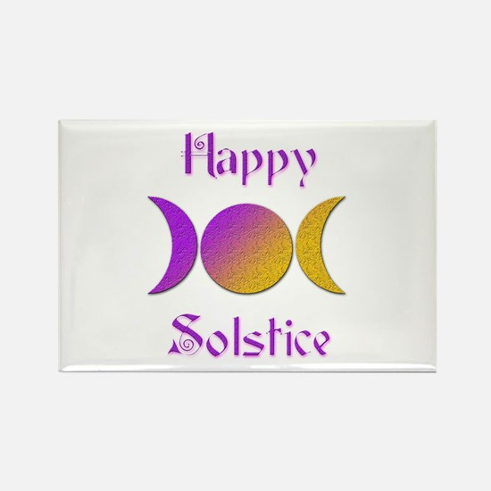 Happy Solstice 4 Rectangle Magnet