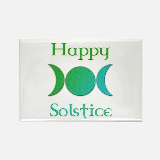 Happy Solstice 3 Rectangle Magnet