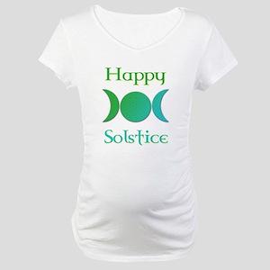 Happy Solstice 3 Maternity T-Shirt