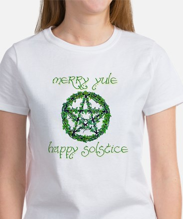 Merry Yule green 2 Women's T-Shirt