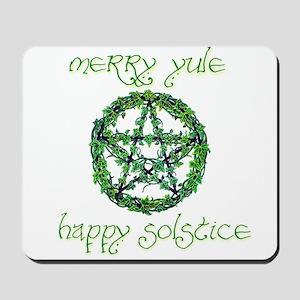 Merry Yule green 2 Mousepad