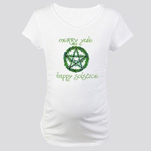 Merry Yule green 2 Maternity T-Shirt