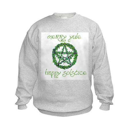 Merry Yule green 2 Kids Sweatshirt