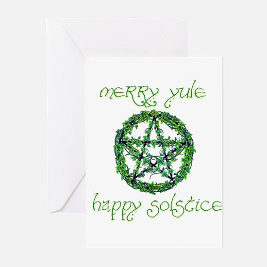 Merry Yule green 2 Greeting Cards (Pk of 10)